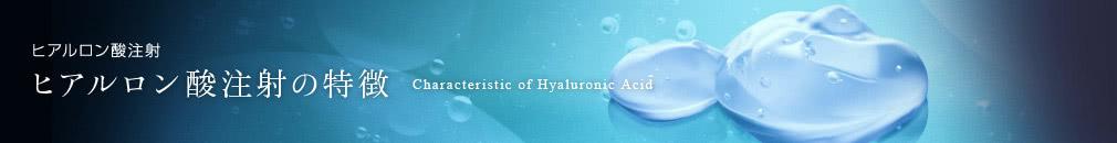 ヒアルロン酸注射の特徴