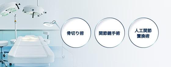 骨切り術 / 関節鏡手術 / 人工関節置換術